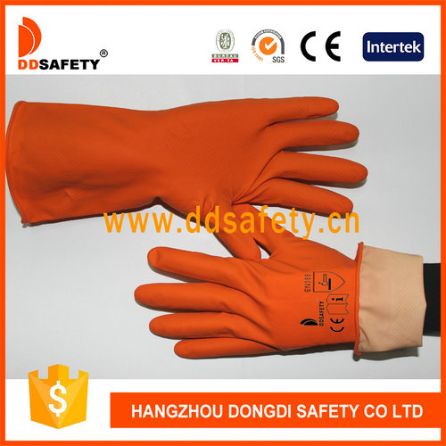Orange latex glove-DHL302