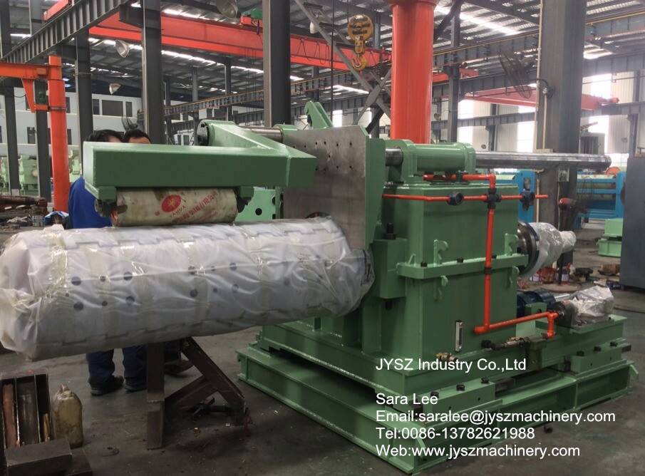 heavy duty hydraulic recoiler for color coating line