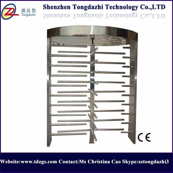 Pedestrian access control full height turnstile rfid security gate