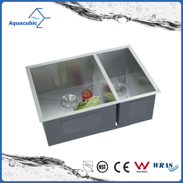 hot sale Undermount stainless steel handmade kitchen sinks ( ACS2920A2)