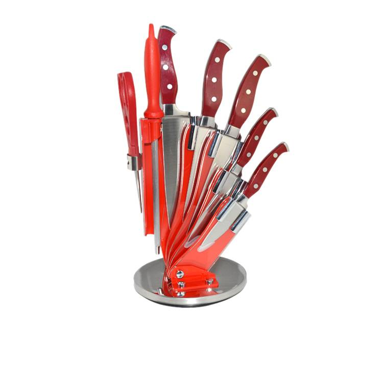 High quality 8pcs stainless steel kitchen knife set with forged handle