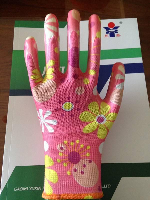 Lady's gardening gloves,work  nitrile gloves