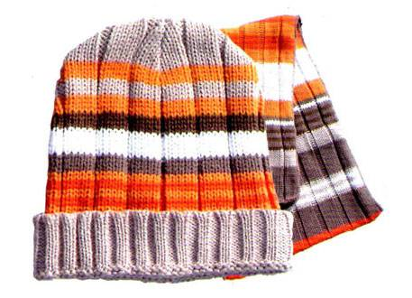 colourful warm knitted hat