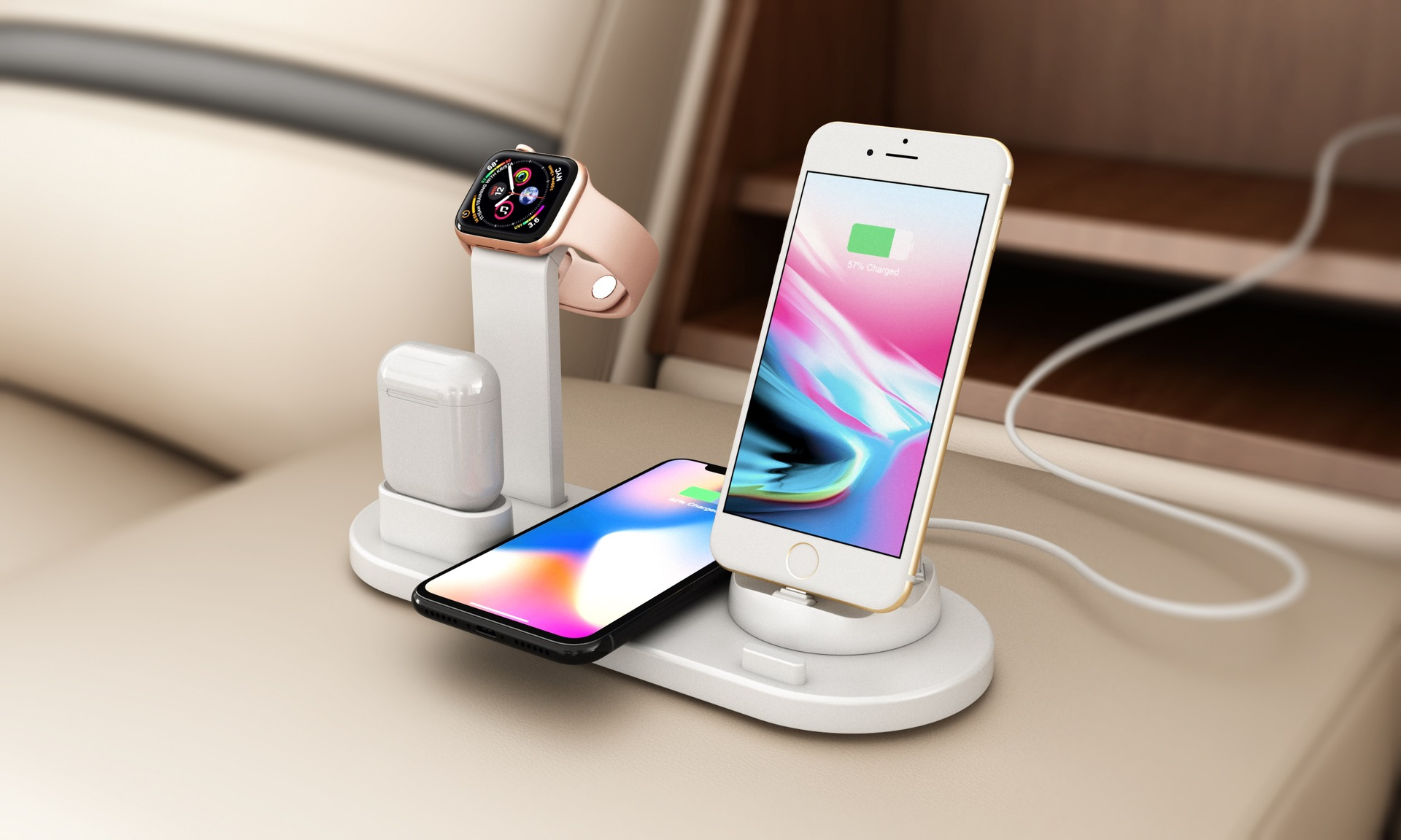 mobile phone wireless watch headphone multifunction charger