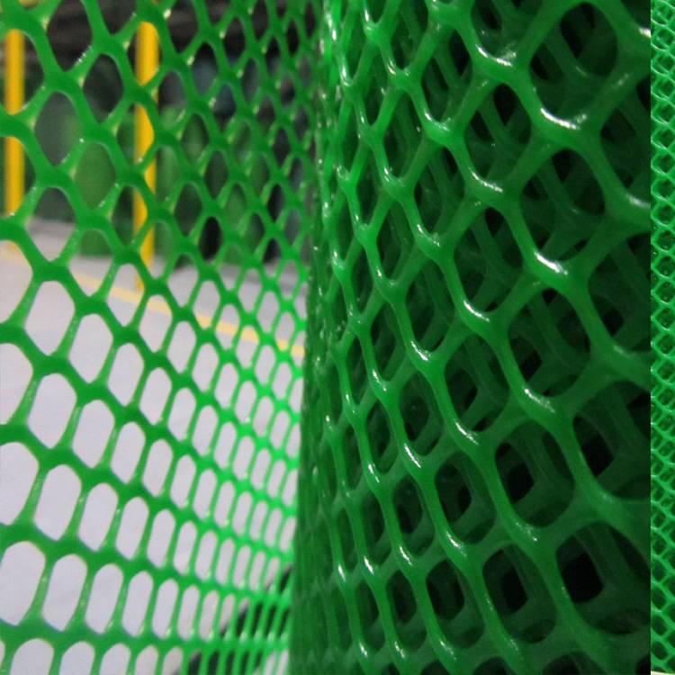 Green plastic mesh