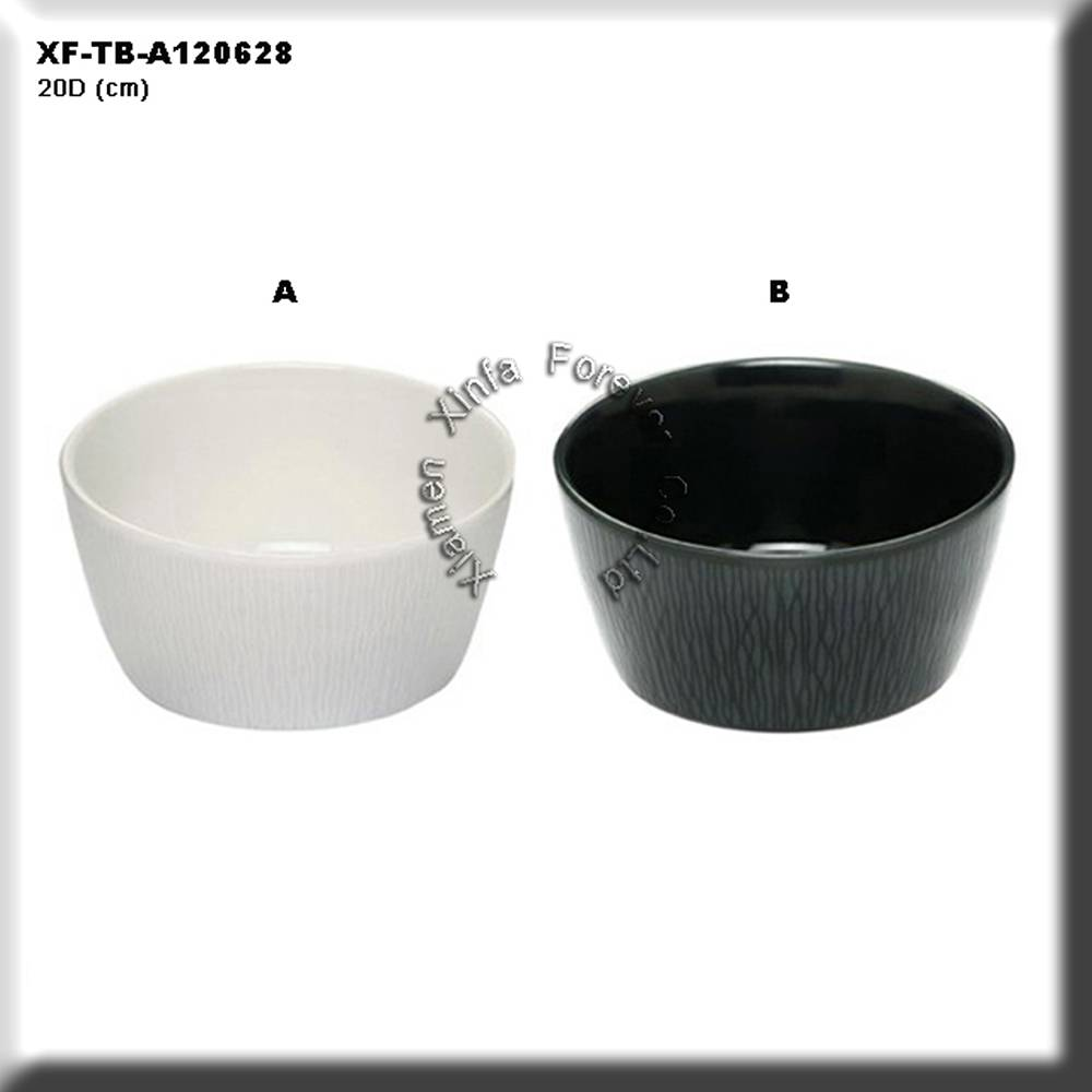 white and black ceramic cereal bowl