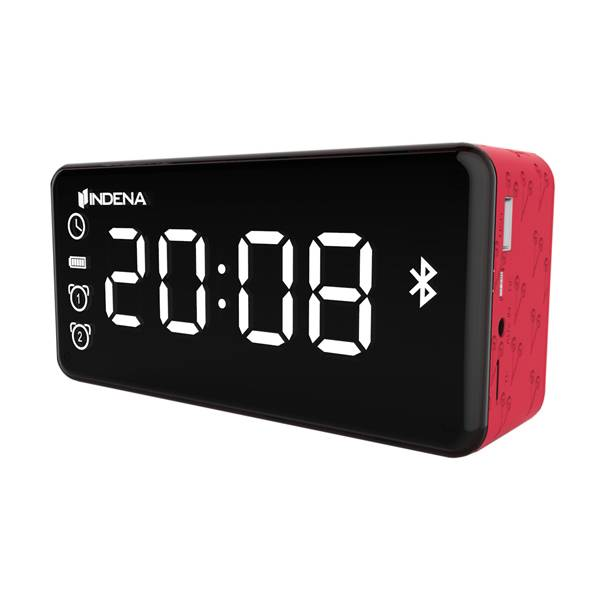 Portable USB Charging dual alarm clock with Bluetooth speaker and FM