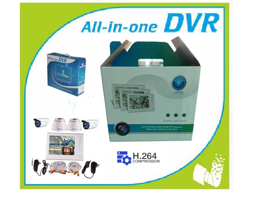 720p Ahd Touch LCD DVR with P2p Onvif for CCTV System