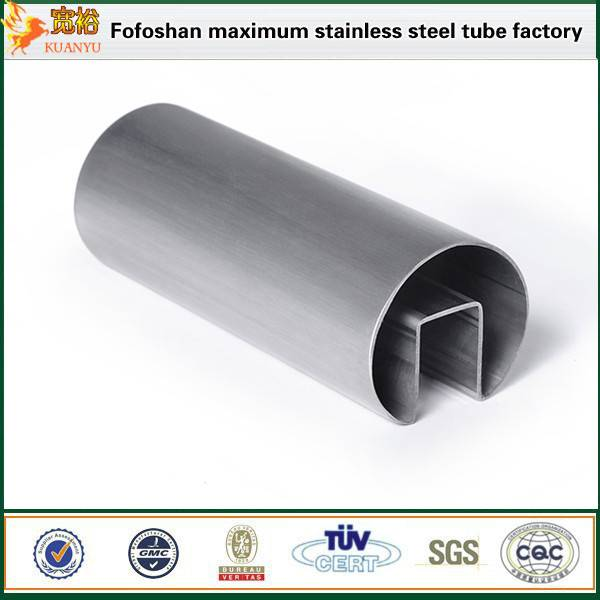 Distributors 316L a554 stainless steel  single slot pipe distributors for Modern Staircase Railing