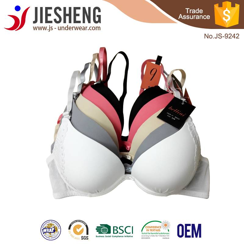 Lady simple elegant bra, beautiful design and cheap price bra underwear Breathable & healthy women s