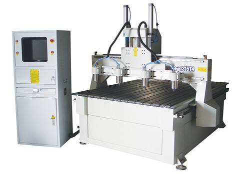 GF-1313-Z4 Multi heads wood processing center  wood engraving