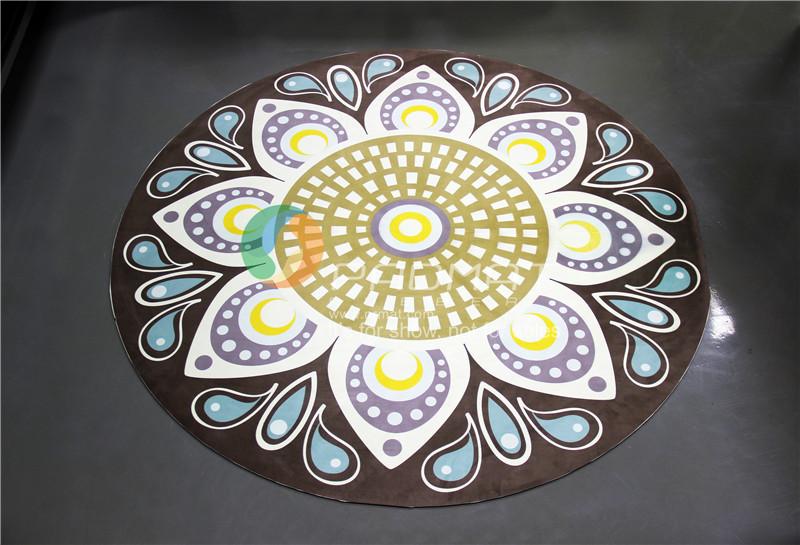 OEM Custom printed round yoga mat