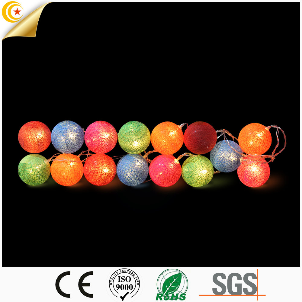 15/20 LED Globe String Light Home Decoration Colorful Garlands Cotton Ball lights