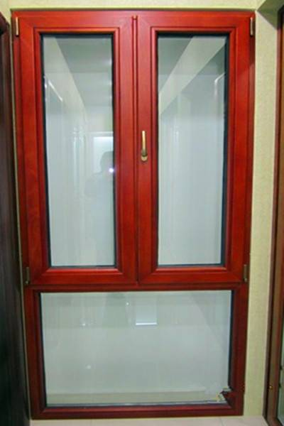 casement window  with wooden grain