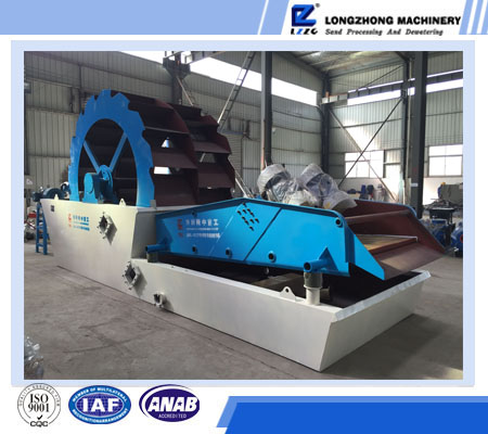 double bucket glass sand washing and drying machine for zircon sand processing plant