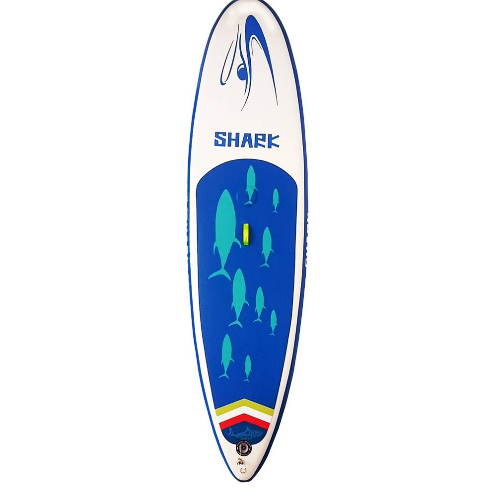 Shark SUPs 10FT Wind Surf Board (6''Thick) with Pump and 3 Piece Adjustable Travel Paddle