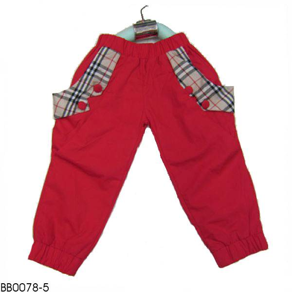 Burber girl's trousers. children's trousers