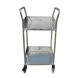 2-Shelf hospital medical metal tools trolley RCS-0257