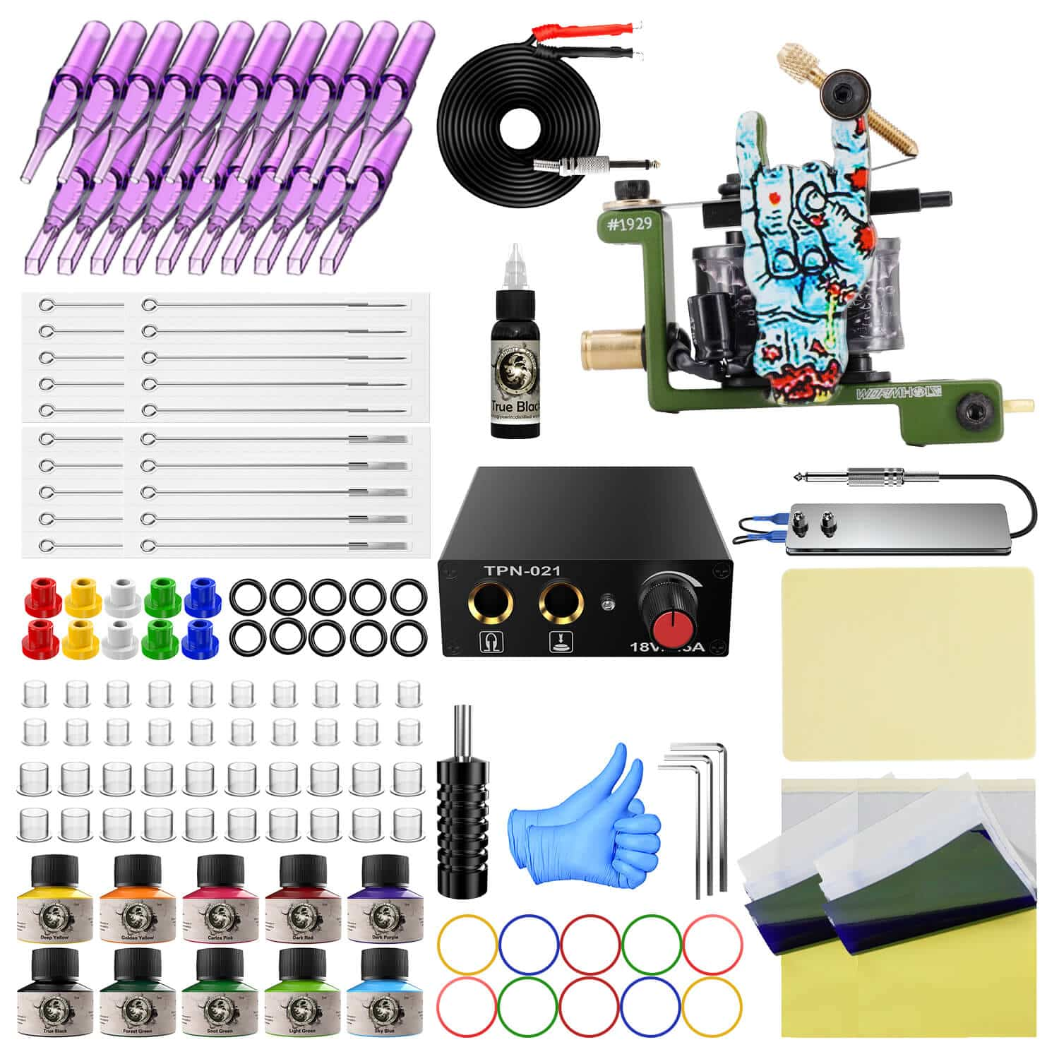 Wormhole Tattoo Kit with Ink