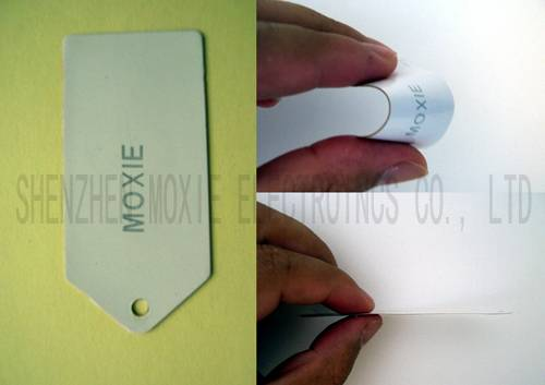 RFID UHF Laundry Tag EPC C1 GEN2(Special Material, with soft, thin, waterproof, anti-acid, anti-alk