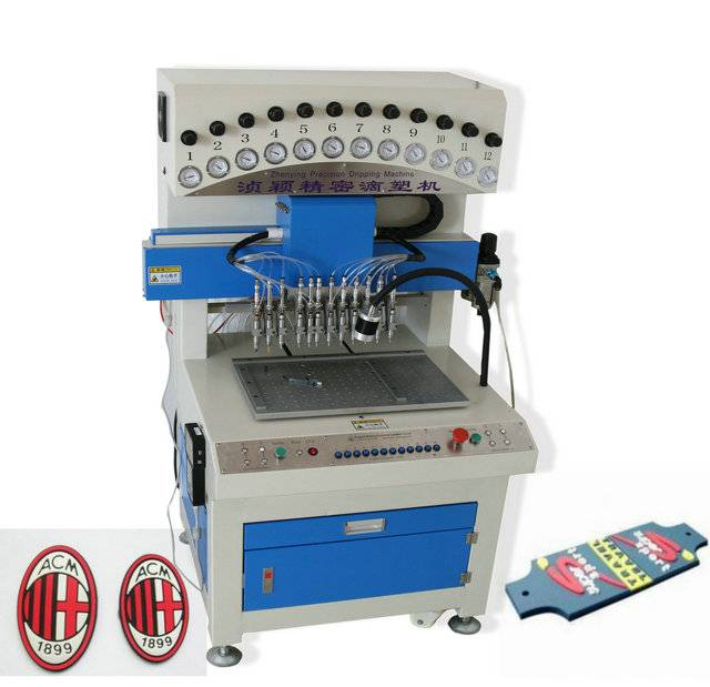 12 colors PVC dispenser machine for mark Cup