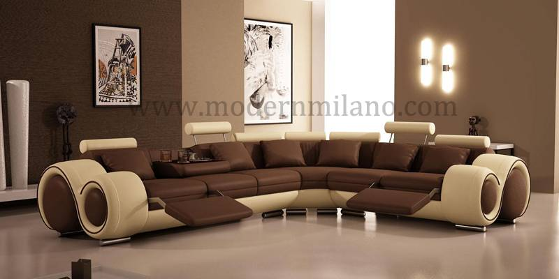 Modern elegant corner leather sofas