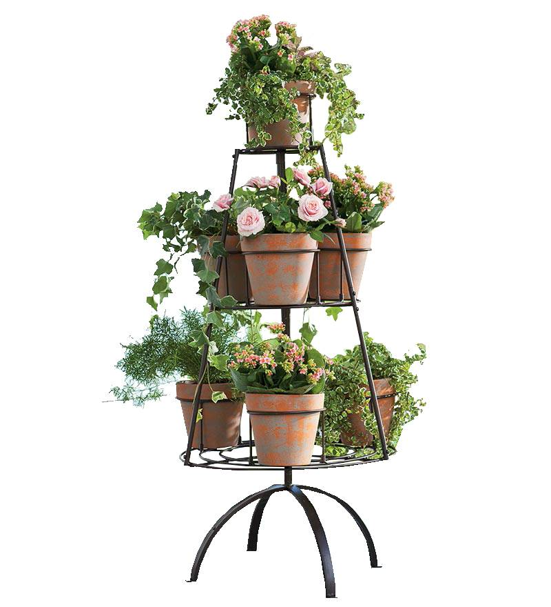 Display Rack, Carousel Flower Pots Display Stand
