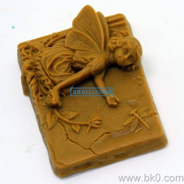 Flower Dragonfly Angel Silicone Soap Molds Cake Tools Bakeware Sugar Craft  Mold AA012