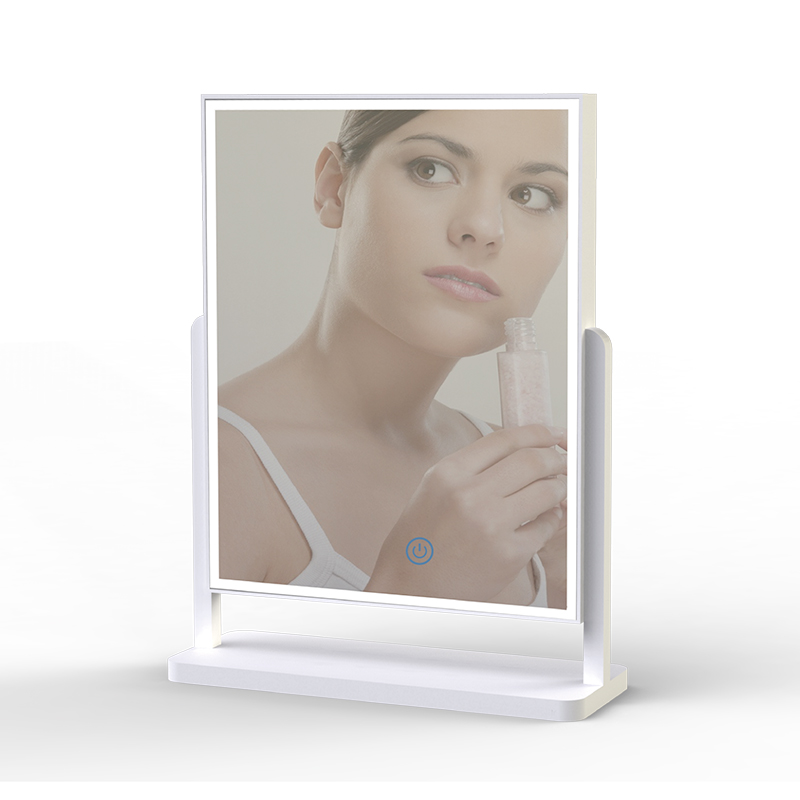 Led Cosmetic mirror by table lamp