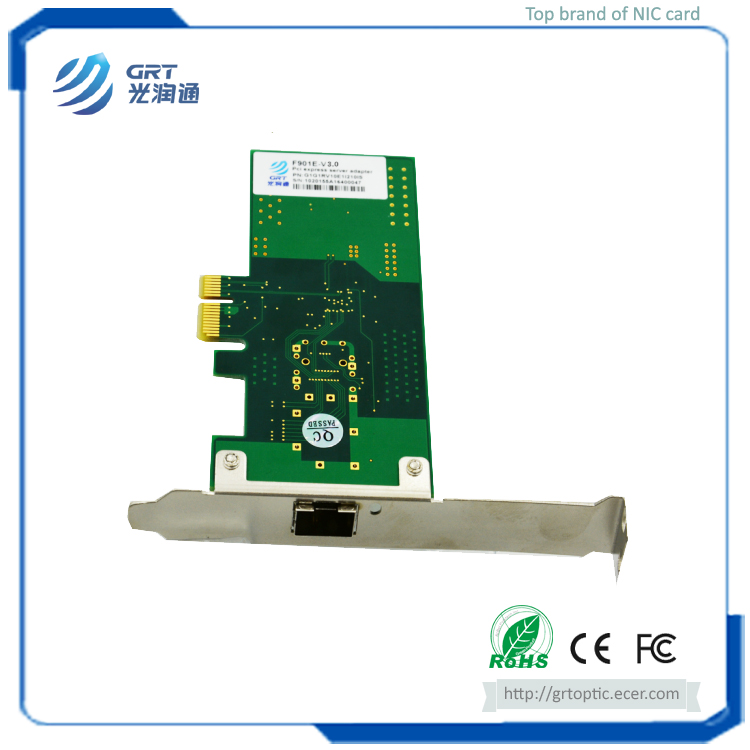 F901E Intel I210 1.25GbE 1-Port Fibre Optic Network Card with optimized performance