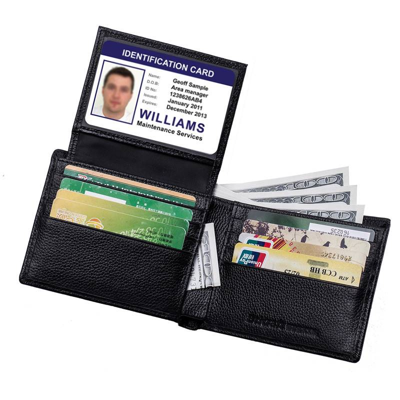 Pebble Pattern Anti Scanners Travel Wallet RFID with Flip out ID Window