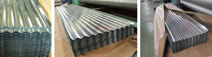 Galvanized  and Color coated corrugated steel roof sheet