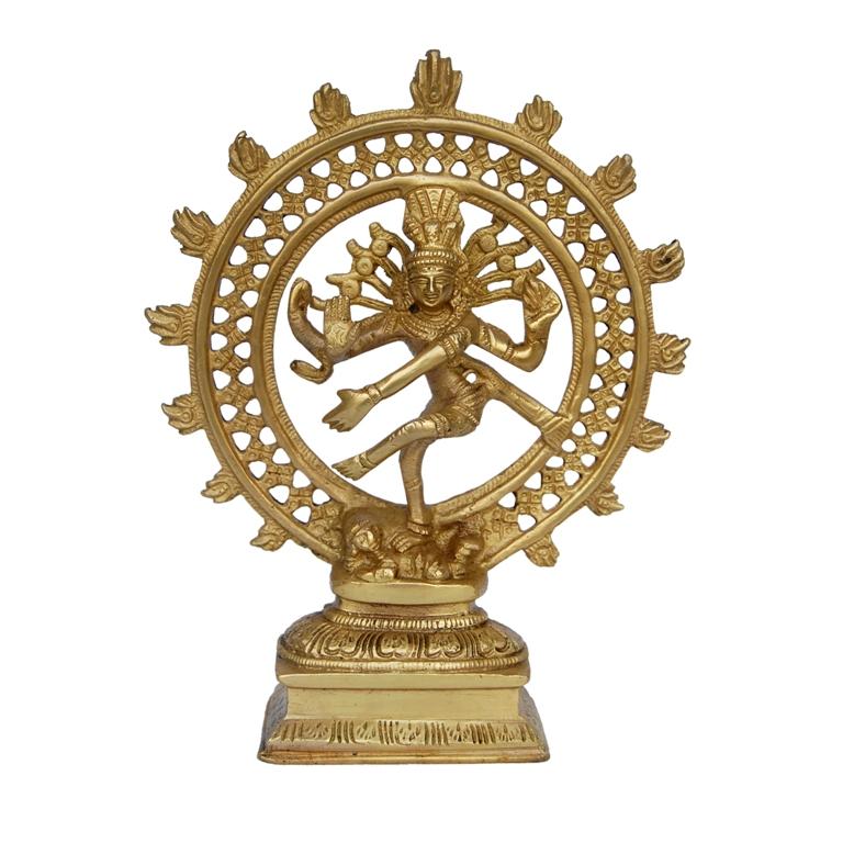 Lord Shiva in Dancing Position ( Natraj) metal made Gift