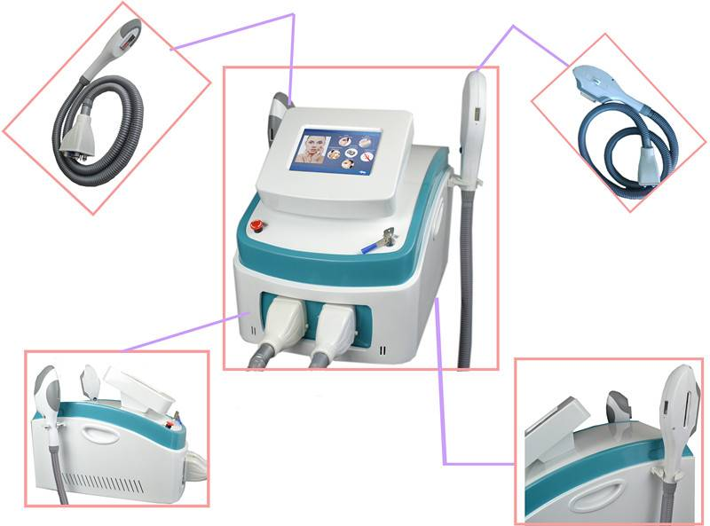 new portable product beauty salon equipment hair removal shr ipl shr elight with two handles