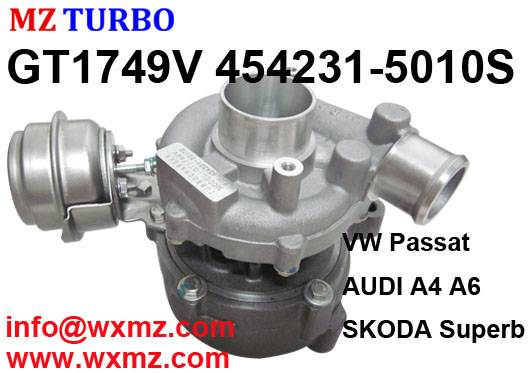 MZ TURBO Qualified Sales Turbocharger GT1749v 454231-5010s 028145702r Turbo for Audi A6 TDI