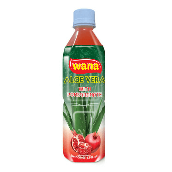 Wholesale Aloe Vera Juice Drinks in Bottle 500ml With Pomegranate Flavor