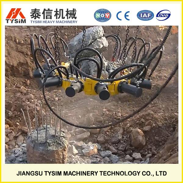 hydraulic pile cropper,round pile breaker for excavator KP315A