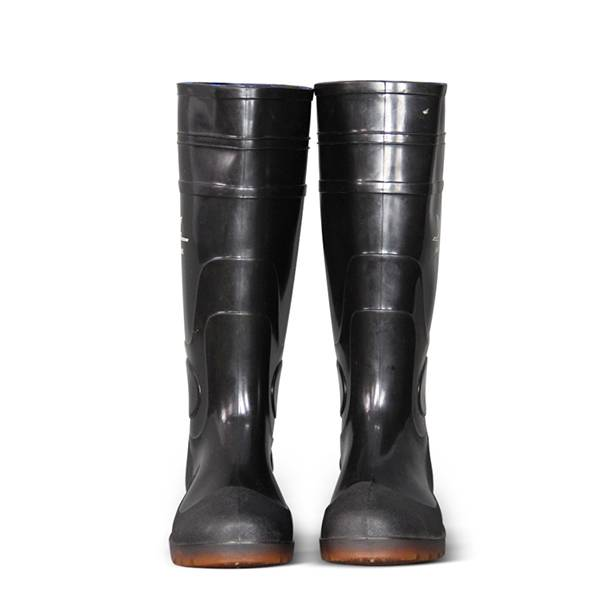 Black PVC Work Boots Safety Boots Rain Boots