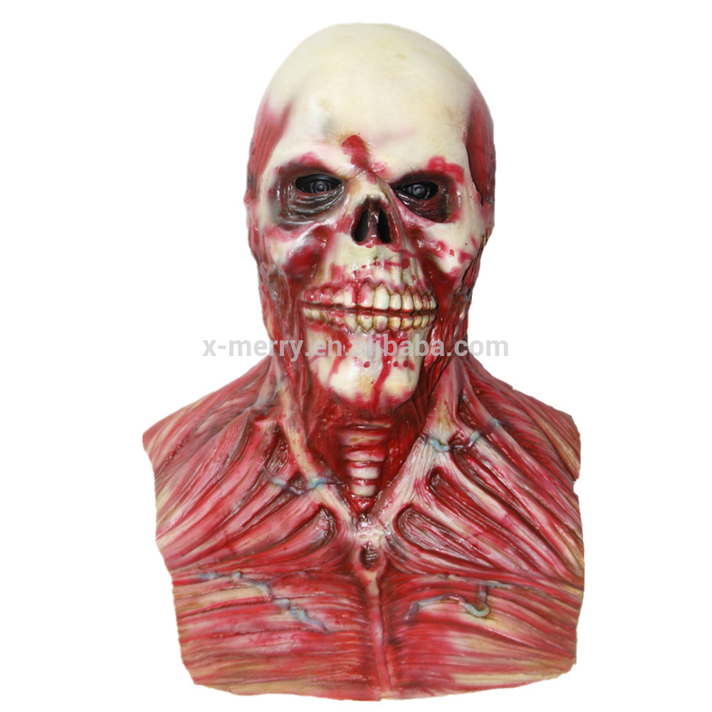 X-MERRY TOY Scary X-MERRY TOY Scary Killer Clown Latex Mask Halloween Party Fancy Dress x14072