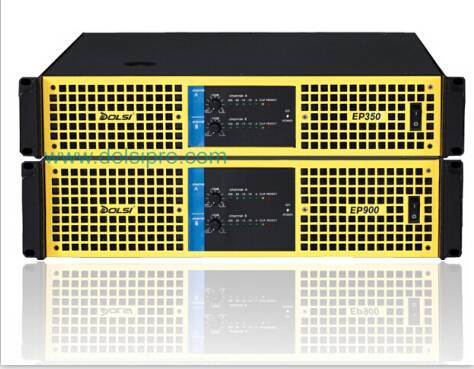 Double Channel 2U 3U 350W to 1300W at 8 Ohms Power Amplifier EP Series