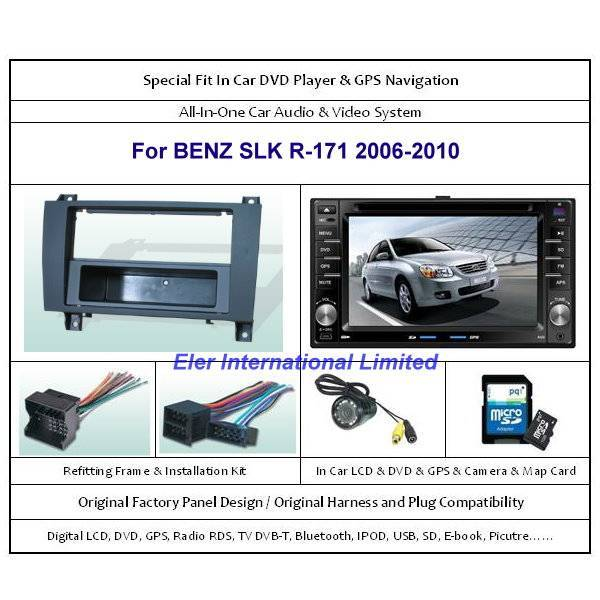 BENZ SLK R-171 2006-2010 Car DVD Player GPS Navi / Original Factory  Panel / Camera / Map Card