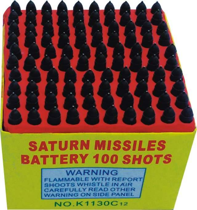 100 shots saturn missile battery fireworks