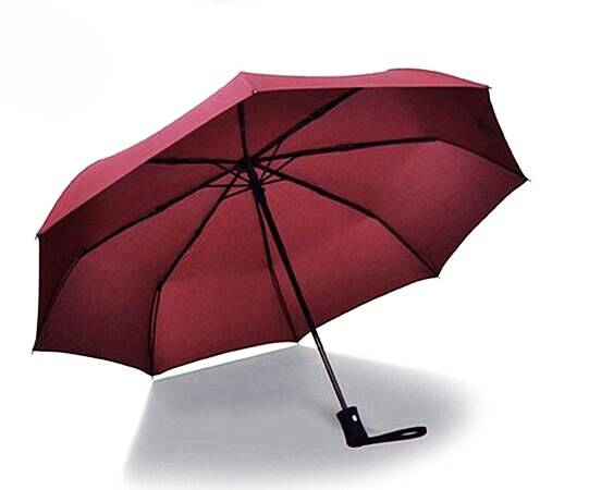 Auto open and close promotional three folding umbrella