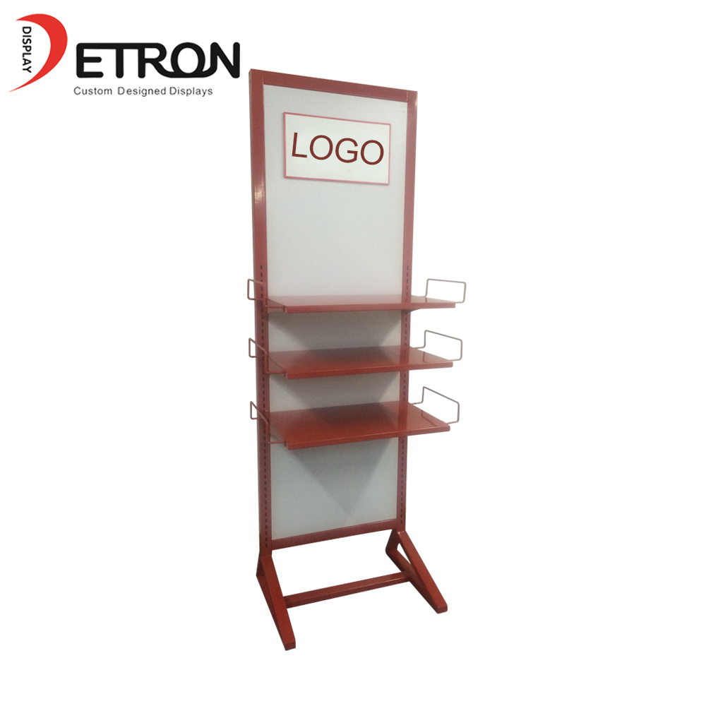 Durable customized flooring grocery pegboard metal stand