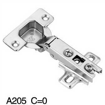 A205 Slide on Hinge (Two way),cupboard hinge