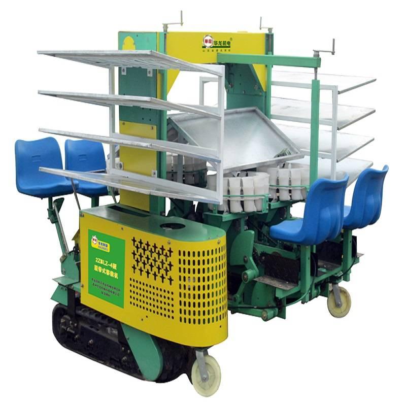 4 rows self-propelled cabbage transplanter seedling transplanter vegetable planting machine