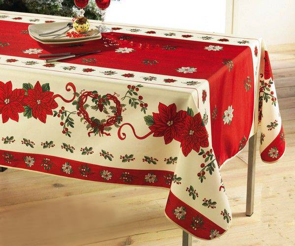 Polyester printed tablecloth for Christmas and other Festival days decoration