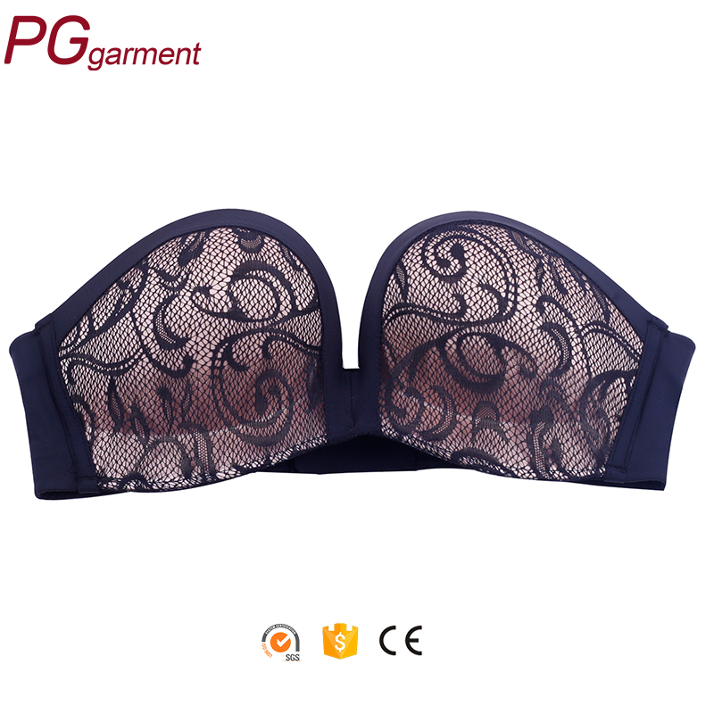 2017 latest fashion OEM service fancy push up women hot sexy bra images strapless bra