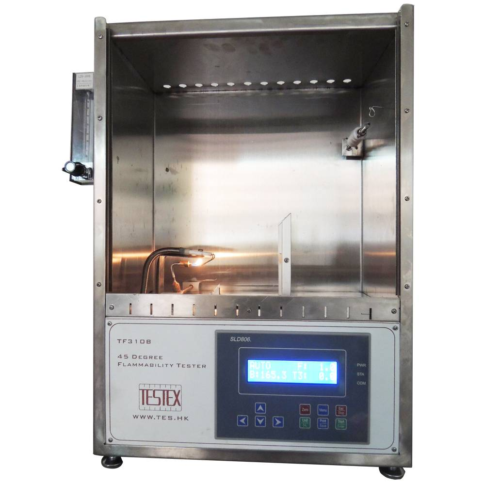 45 Degree Textile Flammability Tester