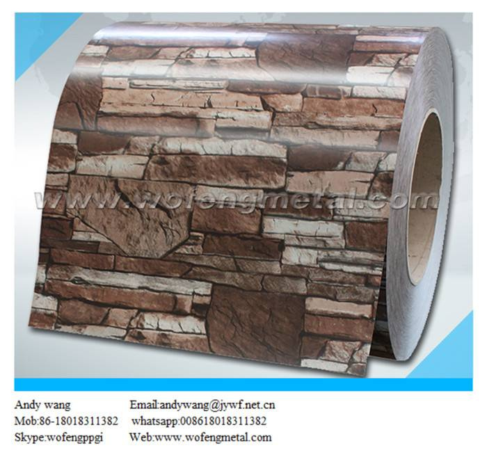 Metal siding material ppgi coil with brick pattern